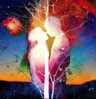 O Coeur du Present - Soin de reconnexion Flammes Jumelles - cedric chaineau
