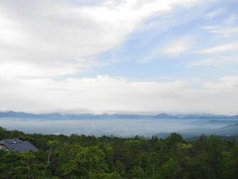 昨日5月30日午前6時50分頃。雲海が美しかったので2Fの和室より撮影~
