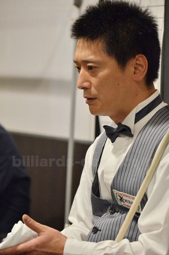Hideaki Kobayashi won 15th NIKKA Open 3-cushion
