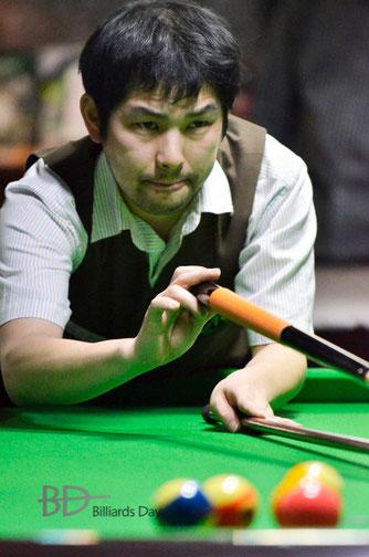 和田敏幸(Toshiyuki Wada) ※今年5月の『全日本14-1』にて。以下同