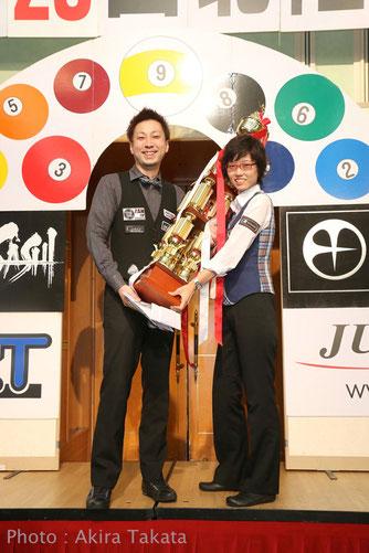 2014 Hokuriku Open Winner, Naoyuki Oi (left) & Masami Nouchi