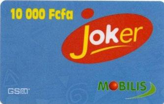 Une carte de recharge à gratter JOKER
