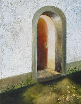 Verheißungsvoll. Ölbild auf Leinwand von Gabriele Koenigs (2021). 40 cm x 50 cm. Verkäuflich
