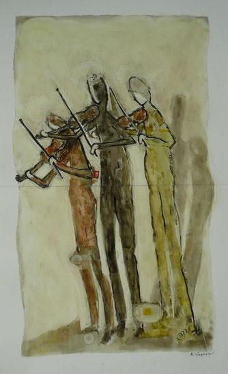 "Annelies Wagner, ""Trissiomo"", Tintografik auf ALU, 70 x 100 cm"