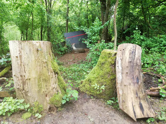 Ein 3D-Ziel im, Wald der Bogenschützen in Esslingen