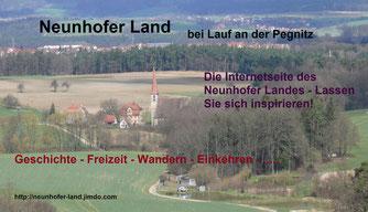 """""""Das Neunhofer Land"""" - Internetseite über das Naherholungsgebiet bei Nürnberg"""