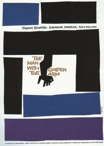 Saul Bass, poster for The Man with the Golden Arm (1955). © Academy of Motion Picture Arts and Sciences.