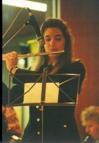 """1989: Stefanie Schmidt mit Solostimme beim """"Einsamen Hirten"""""""