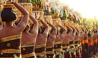 Photo cérémonie à Bali pour culture blog