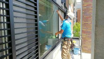 外面ガラス清掃