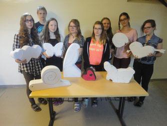 Ergebnis unserer Bildhauerei: unsere Ytongfiguren