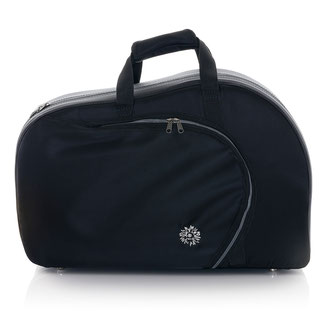 classicla black French horn case srewbell