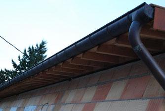 chéneaux cuivre sur maison neuve
