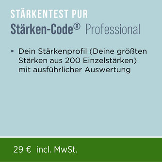 Mit dem Persönlichkeitstest Stärken-Code® Professional entschlüsselst Du aus 200 Einzelstärken Deine größten Stärken.