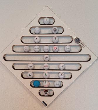 Gofball Vitrine Sammler Golfbälle Spirale Wandhalter Logobäll