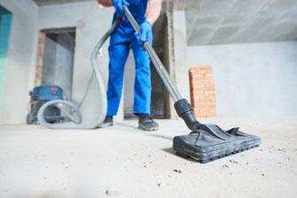 Die optimale Baustellenreinigung umfasst mehrere Reinigungsphasen während der Baustellenzeit. Auf einer Baustelle entsteht naturgemäß viel Schmutz.