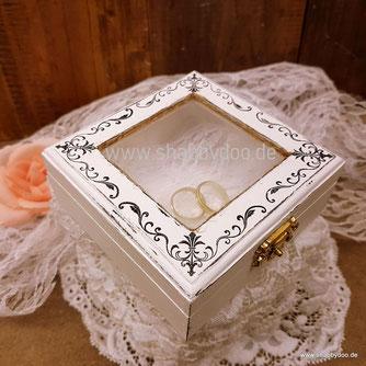 Ringkästchen Holz Hochzeit shabby vintage