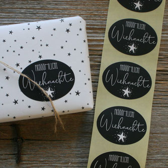adventliche Geschenkkleber /Adventszahlen