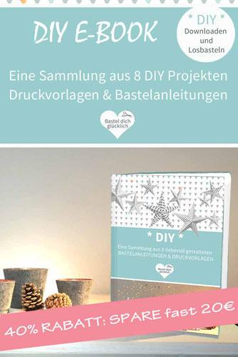 PRINTABLE Sammlung: 8 DIY PROJEKTE ZUM AUSDRUCKEN - WEIHNACHTEN: DIY Adventskalender, DIY Weihnachtskarten, DIY Weihnachtsdeko, DIY Grußbox, DIY Streichholzschachtel, DIY Geschenkpapier, DIY Gesechenkanhänger, DIY Teelichschirm, basteln, Papier, Origami,
