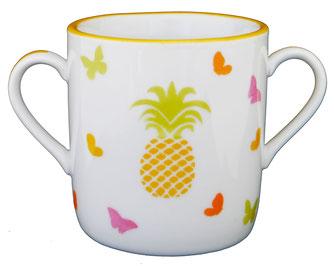 Tasse bébé porcelaine ananas