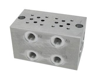 Aluminiumsteuerblock