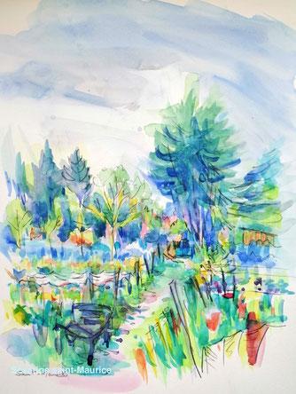 severine saint-maurice, lescerclesdelumiere.com, aquarelle