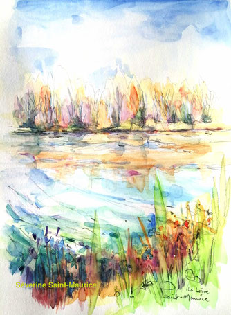 severine saint-maurice, lescerclesdelumiere.com, aquarelle, aquapainting