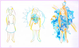 severine saint-maurice, lescerclesdelumiere, dessin spirituel, spiritualité, la terre