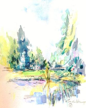 jardin dbotaniques, severine saint-maurice, lescerclesdelumiere.com, dessin, dessin en plein air