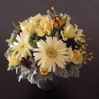 黄色の花8500円オーダーメイドフラワー