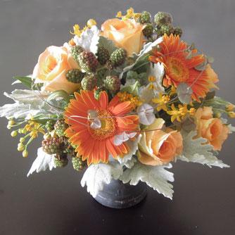 オレンジの花5000円オーダーメイドフラワー