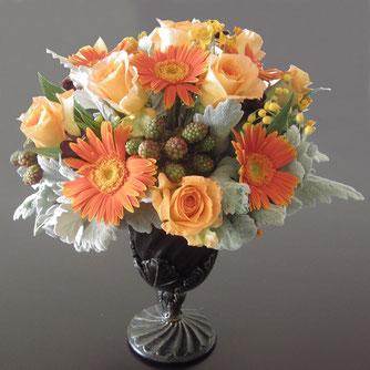 オレンジの花8500円オーダーメイドフラワー