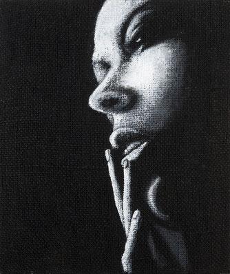 Arte contemporanea - quadro in bianco e nero -