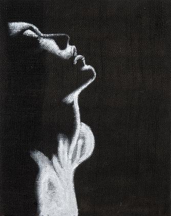 Quadro su tela - soggetto  donna - arte contemporanea