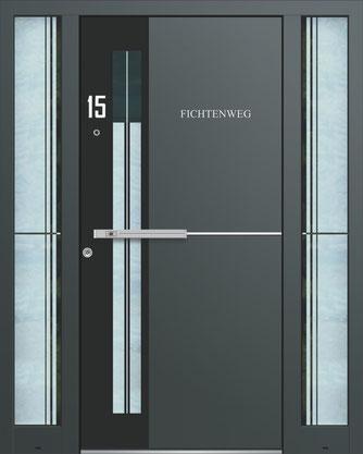 Schüco Design Haustüre von Inotherm Modell AAE 1481 Köln Aachen Düren