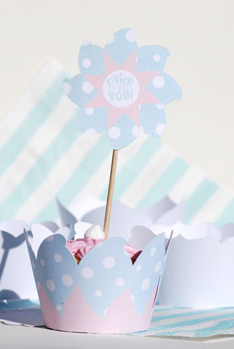 Cupcake Schablone