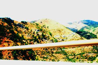 Photographie, Sur la route, Italie, Gênes, vitesse, couleurs, été, Mathieu Guillochon