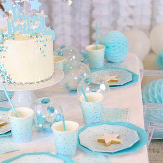 themes-anniversaire-enfant-fille-garcon-theme-bleu-pois-argent-irise