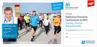 Dr. Marquardt, Gutschein-Vorlage, Lauf-Seminar in STPO mit laufen.de