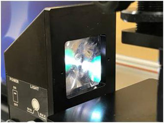 接触角計LEDライト画像