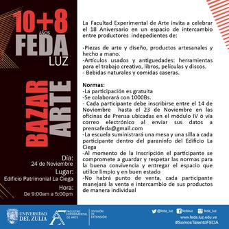 Bazar Arte 10+8 FEDA LUZ