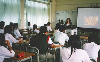 倉吉農業高校でトピアリーの講義