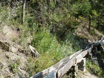 Suonen, historische Wasserleitungen, Ausserberg, Wallis