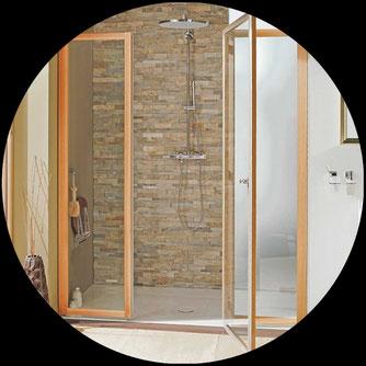 Holz-Duschwand | das funktioniert mit Garantie