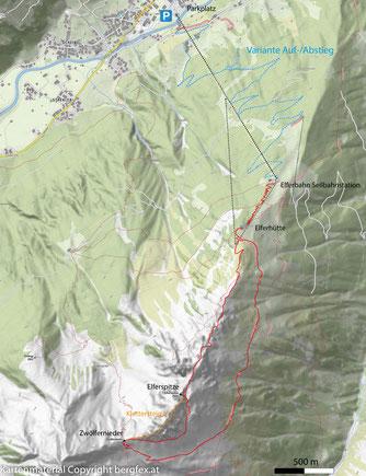 Mit der Elferbahn zum Zwölfernieder und weiter zum nördlichen Elferturm
