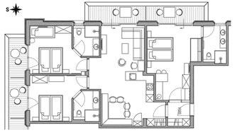 Appartement Navada - Grundriss