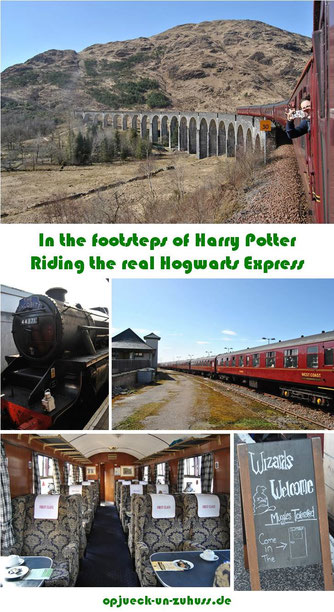 Riding the Harry Potter Train / Hogwarts Express / Jacobite Stream Train