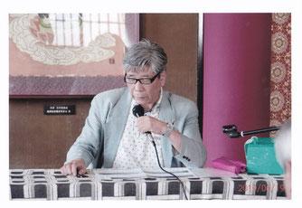 子規の鍛への書簡を紹介する卓話 森氏 写真:髙村会員