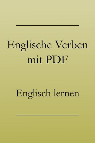 Englisch Grundwortschatz Verben, PDF zum Drucken