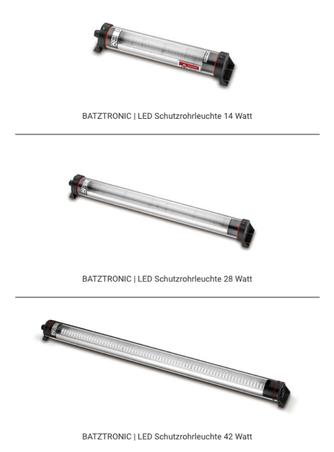 LED Werkstattleuchte als Schutzrohrleuchte